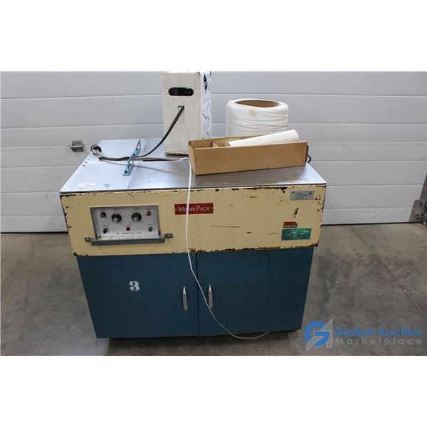 **Meiwa Pack Strapping Machine w/Strapping