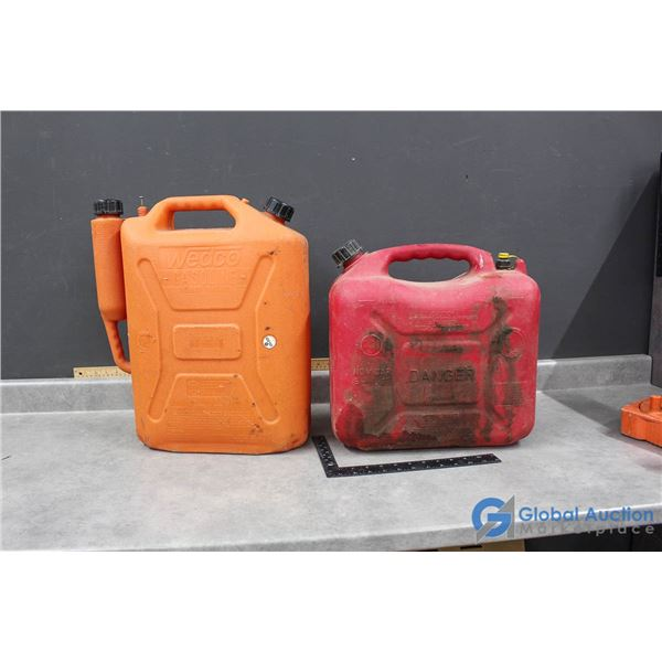 (2) Jerry Cans - 20 & 23 Litres