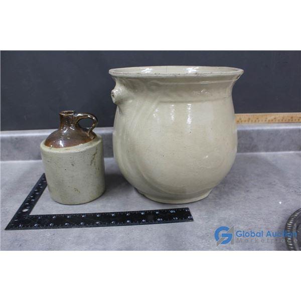 Medalta Stoneware & Stoneware Jug