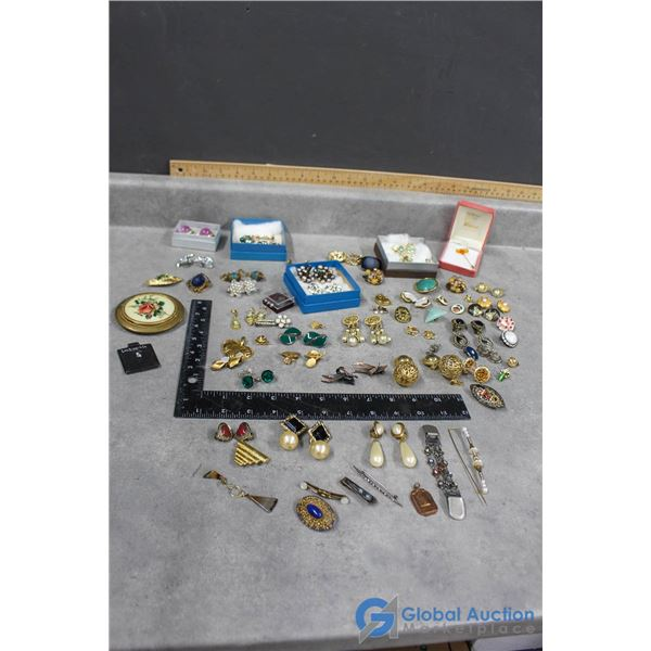 Clip-On Earring & Other Assorted Jewelry