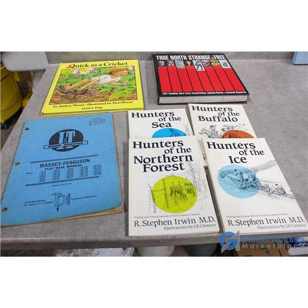 Assortment of Books & Massey Ferguson Manual