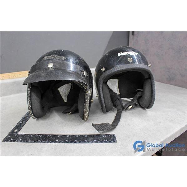 (2) Vintage Bike Helmets