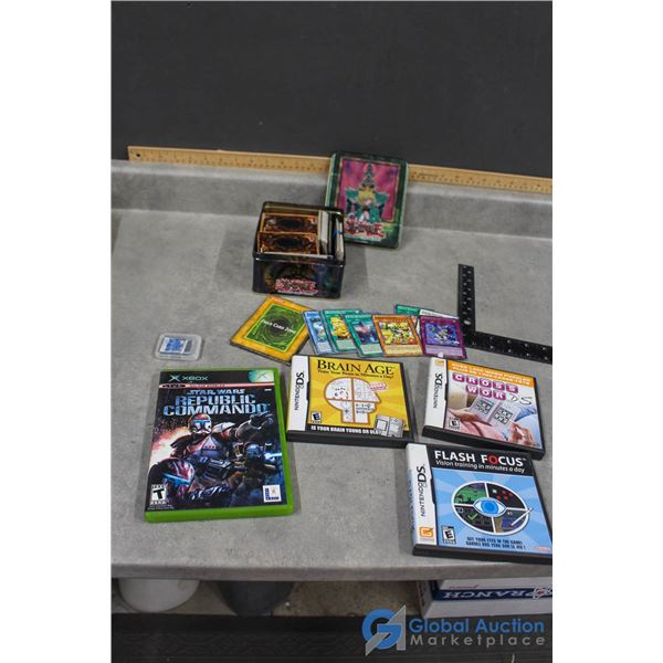 Nintendo DS Games, Yu-Gi-Oh Cards in Tin & XBox Game