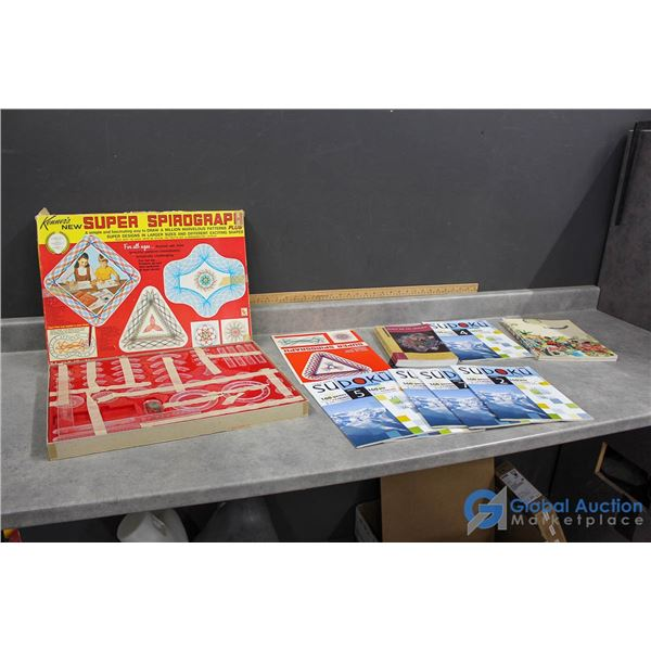 Spirograph Set, Pottery Books & Sudoku Puzzle Books