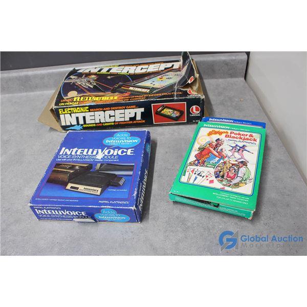 Intellivision Modules & Intercept Game