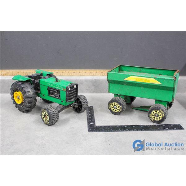 Tonka Toy Tractor & Trailer
