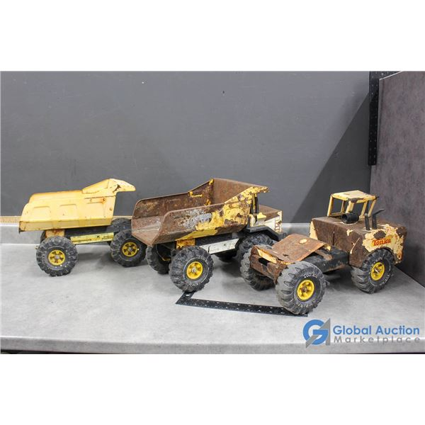 (3) Tonks Toy Trucks