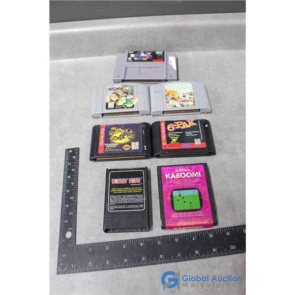 Assorted Vintage Video Games