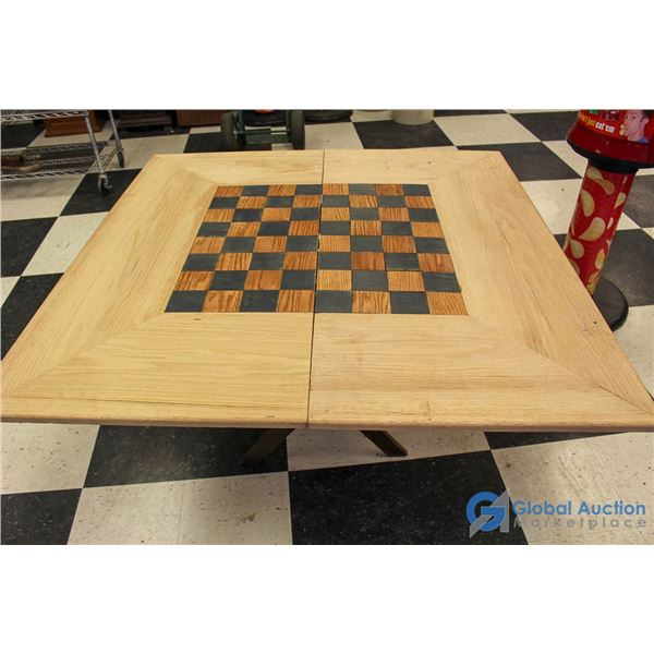 **Homemade Wooden Foldable Games Table
