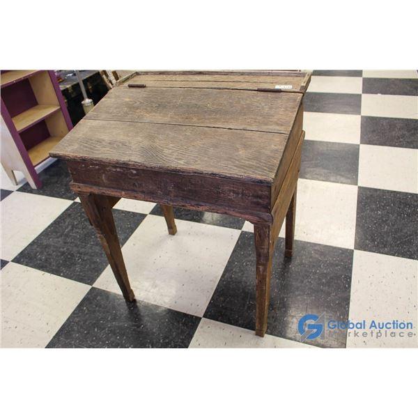 **Vintage Wooden Writing Desk