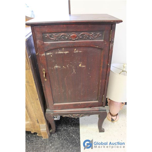**Vintage Wooden Record Cabinet