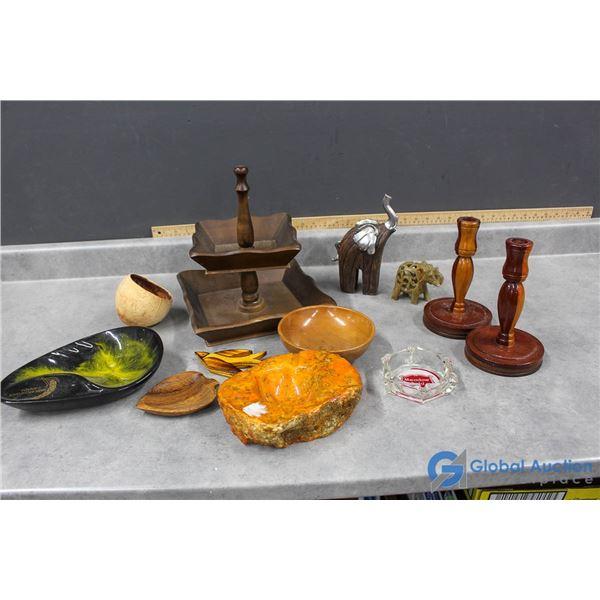 Ashtrays, Candlesticks & Other Assorted Decor