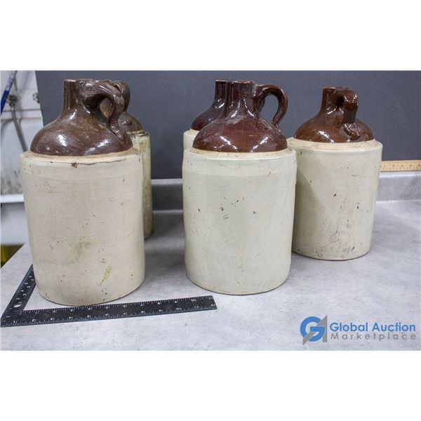 (5) Stoneware Jugs