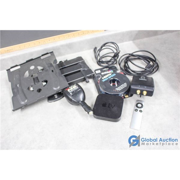 HDMI Cables, Apple TV, TV Mount & Assorted