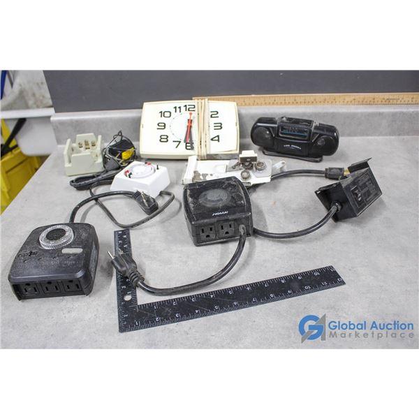 Timers, Clock, Radio & Assorted Electronics
