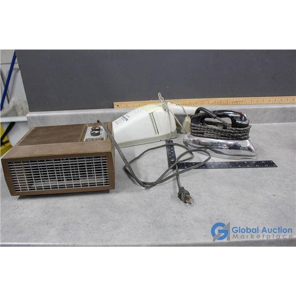 Vintage Dust Buster, Heater & Iron