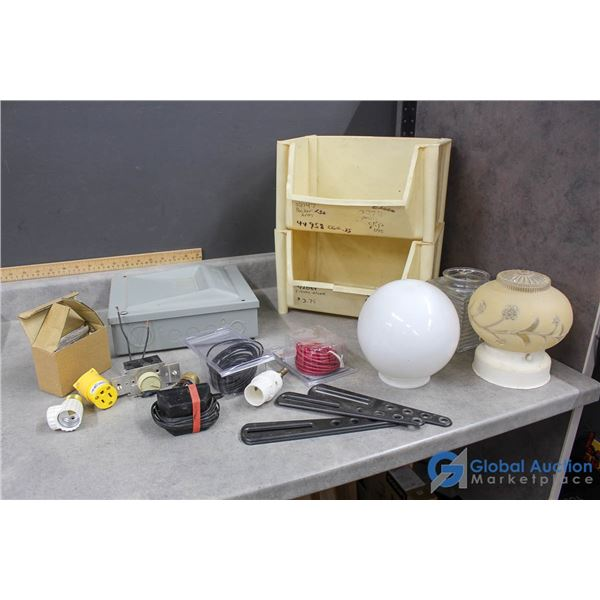 Glass Light Covers, Electrical Supplies & Organizers