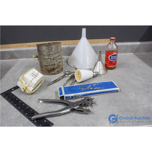 Sifter, Funnels, Leather Punch & Leather Conditioner