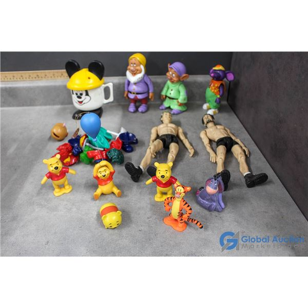 Assorted Toys - Disney, Mickey Mouse, Winnie the Pooh