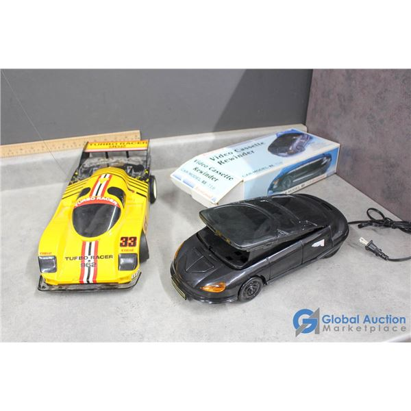 Car Model w/Box VHS Rewinder & Race Car (no remote)