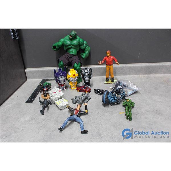 Assorted Toys - Hulk, Teen Wolf, Transformers