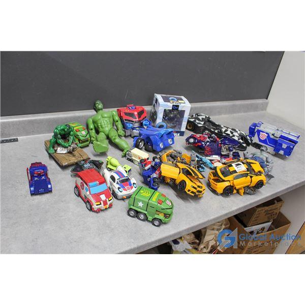 Assorted Toys - Transformers, Batman, Hulk