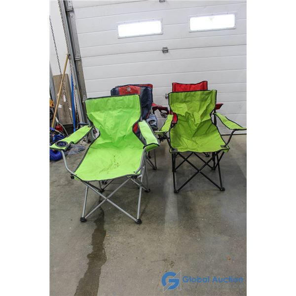 **(5) Foldable Fabric Lawn Chairs