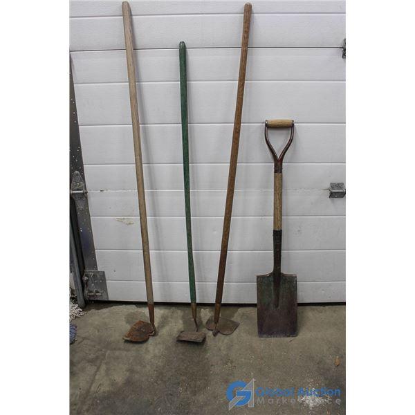 **(3) Hoes & Square Shovel