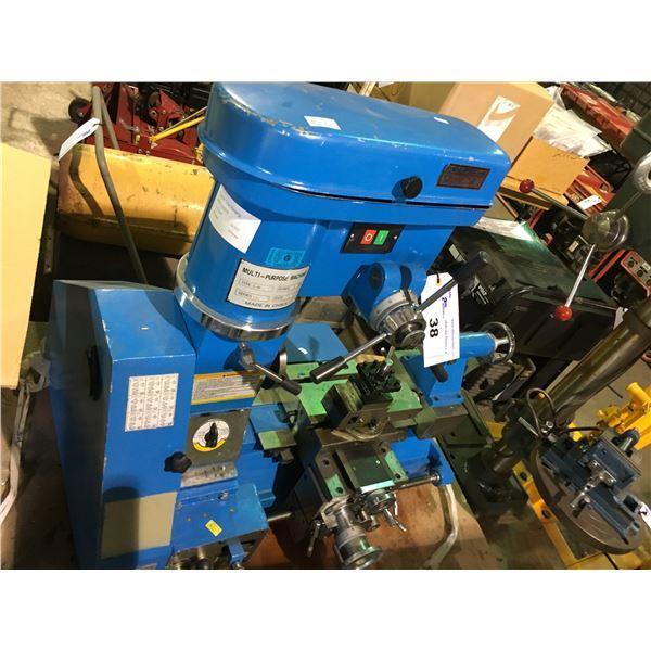 3 IN 1 SINGLE PHASE 110V MULTI PURPOSE MILL/DRILL/LATHE MACHINE MODEL MAG-LH009