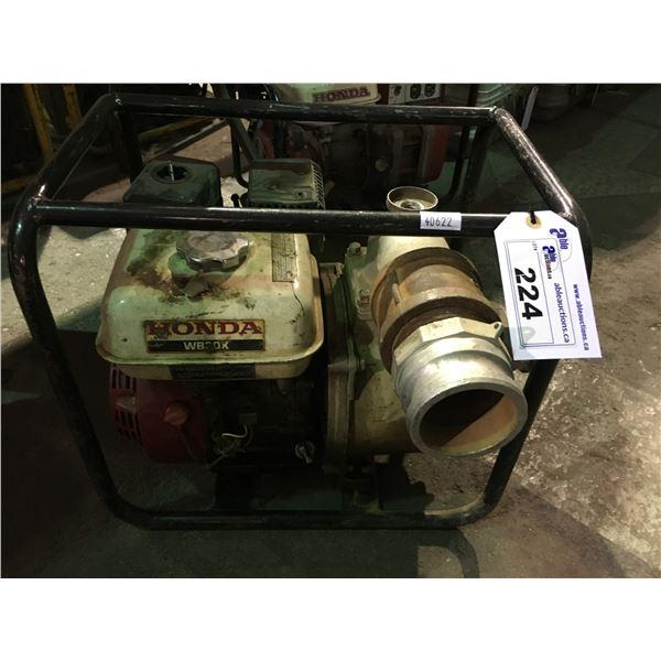 HONDA WB30K GAS POWERED INDUSTRIAL PUMP