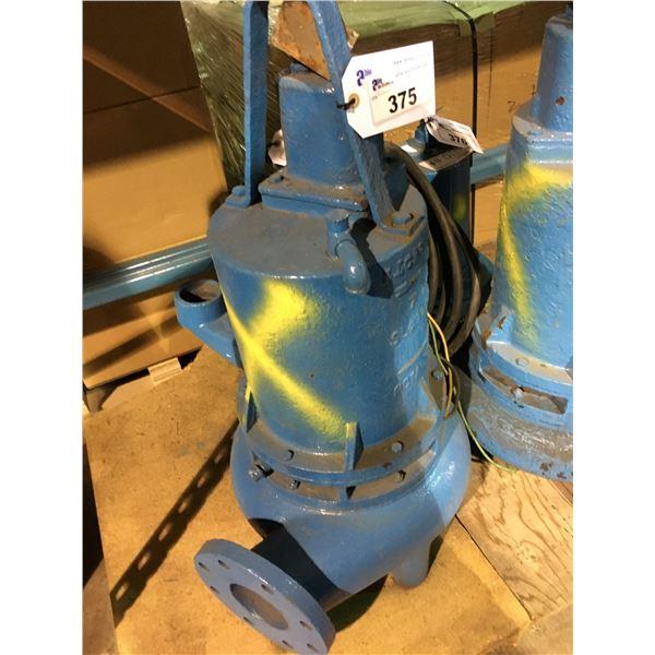 BLUE BARNES PUMPS 4SE-150641 15HP, 3 PHASE, 208V INDUSTRIAL PUMP