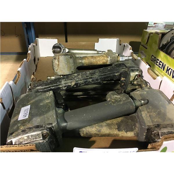 BOX OF ASSORTED PNEUMATIC FRAMING NAIL GUNS