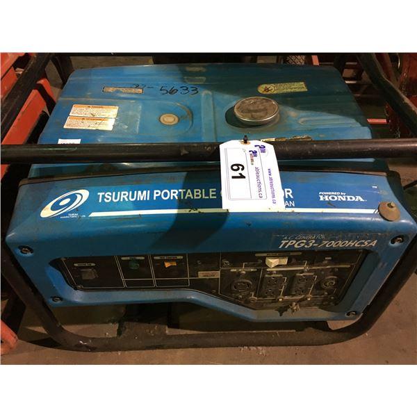 TSURUMI PORTABLE GENERATORS TPG3-7000HCSA GAS POWERED GENERATOR