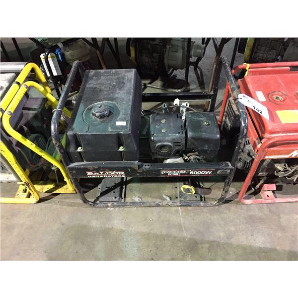 BALDOR POWERCHIEF GENERATORS PC50H 5000W GAS POWERED GENERATOR
