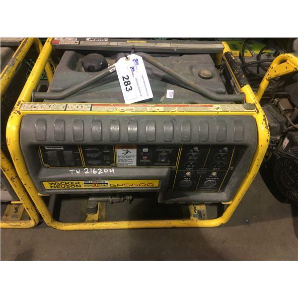 WACKER NEUSON GP5600 GAS POWERED INDUSTRIAL GENERATOR
