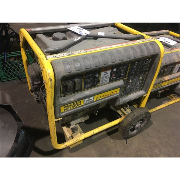 WACKER NEUSON GP5600 MOBILE GAS POWERED INDUSTRIAL GENERATOR