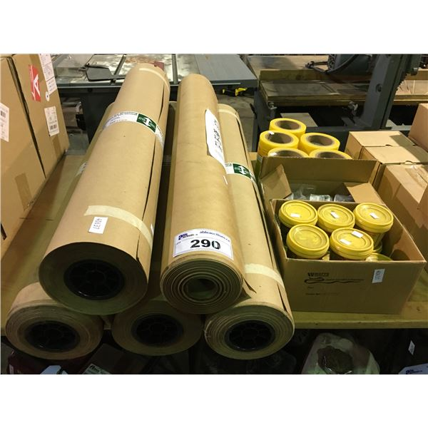 """5 ROLLS OF W914MM STANDARD DRY SHEATHING, 5 ROLLS OF 6""""X100' SITE TAPE, HINGES AND PIPE JOINT"""