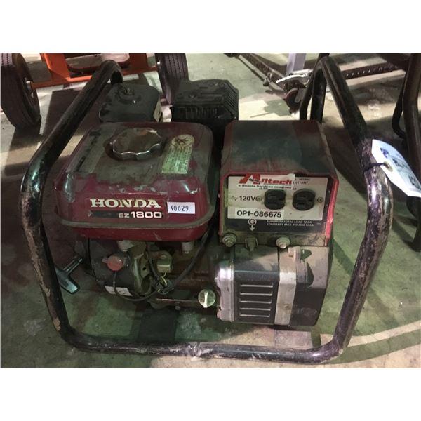 HONDA EZ1800 INDUSTRIAL PORTABLE GAS GENERATOR
