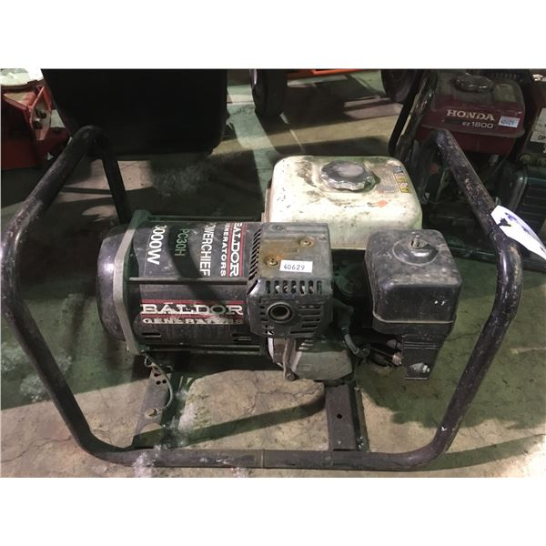 BALDOR GENERATORS POWERCHIEF PC30H 3000W INDUSTRIAL PORTABLE GAS POWERED GENERATOR