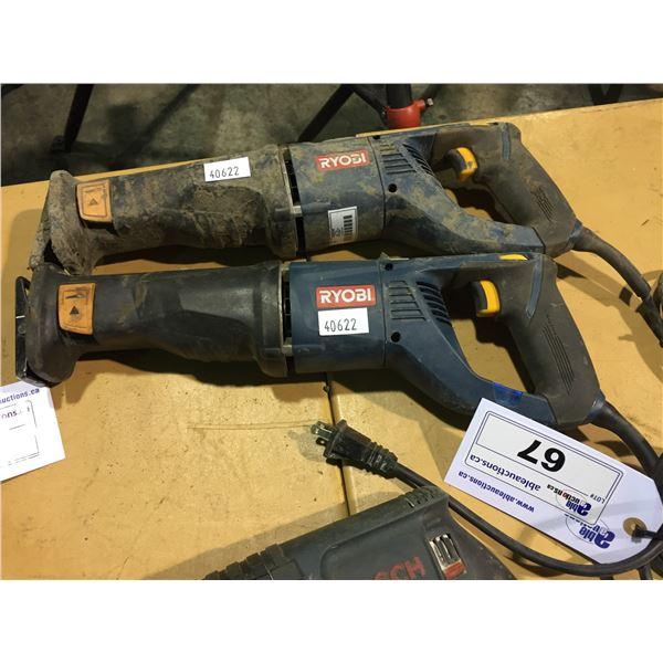 2 RYOBI 120V CORDED RECIPROCATING SAWS