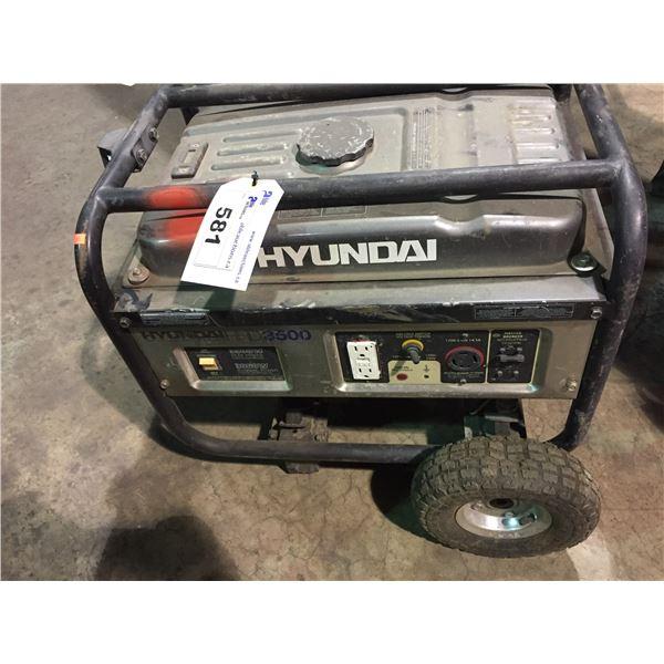 HYUNDAI HHD 3500 INDUSTRIAL MOBILE GAS POWERED GENERATOR