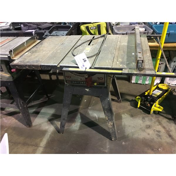 """CRAFTSMAN 10"""" DELUXE MOTORIZED TABLE SAW"""