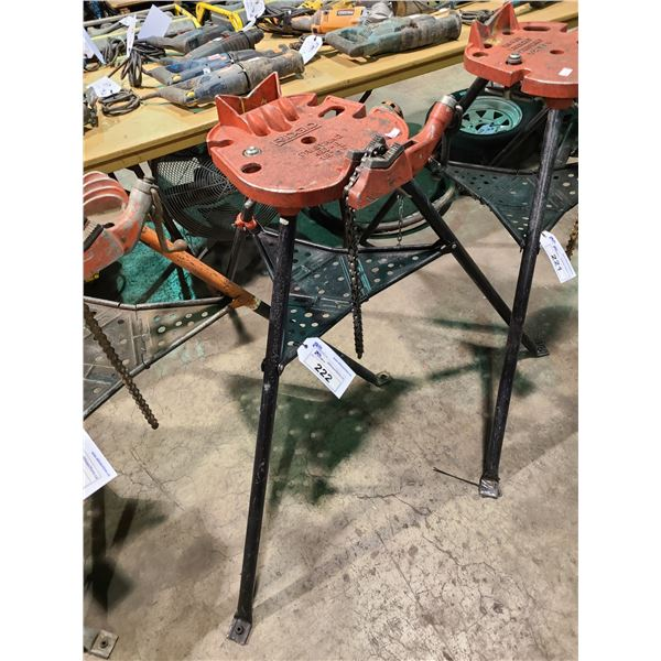 """RIDGED PORTABLE INDUSTRIAL TRISTAND CHAIN VISE 1/8""""-6"""""""
