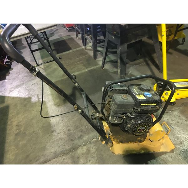 YELLOW INDUSTRIAL GAS POWERED VIBRATORY PLATE COMPACTOR