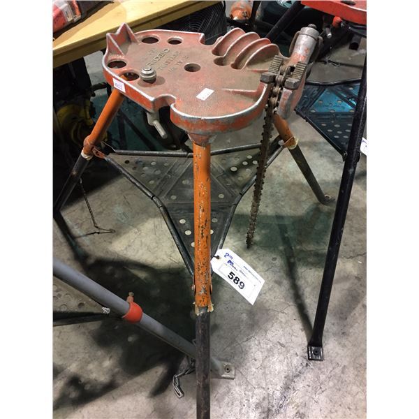 """RIDGED PORTABLE INDUSTRIAL TRISTAND CHAIN VISE 1/8""""-5"""""""