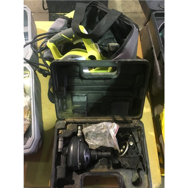 BISSETT FASTENERS LBPN 100K PNEUMATIC STUD GUN AND RYOBI HPL52 120V PLANER