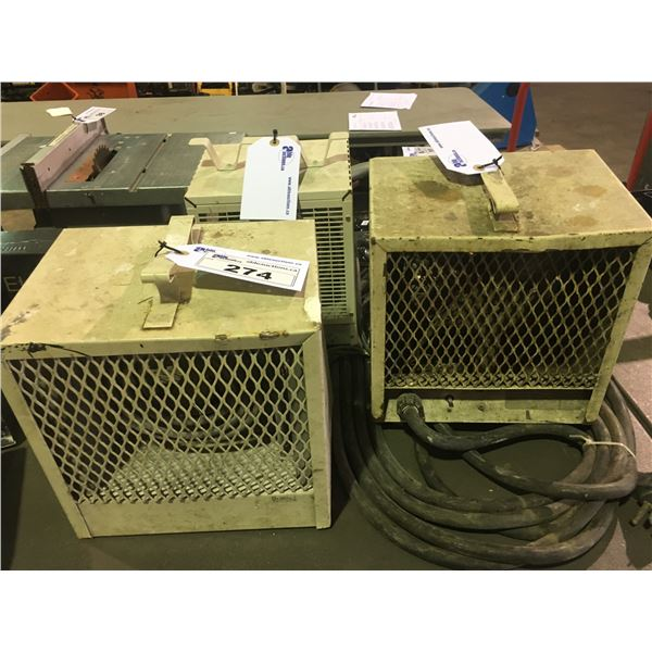 3 WHITE OUELLET INDUSTRIAL ELECTRIC HEATER FANS