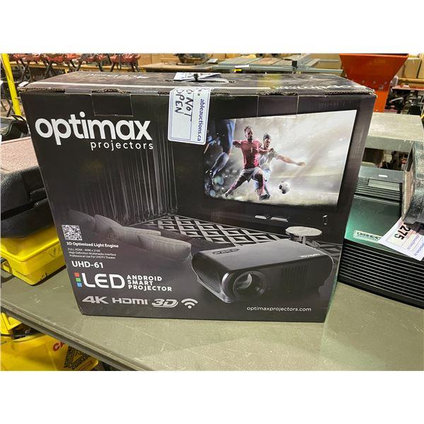 OTIMAX PROJECTORS UHD-61 LED FULL HDMI 4K ANDROID SMART PROJECTOR