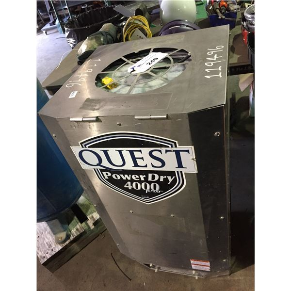 QUEST POWERDRY 4000PRO MOBILE INDUSTRIAL DEHUMIDIFIER