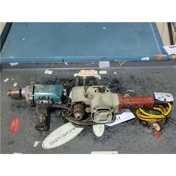 MILWAUKEE 120V CORDED HEAVY DUTY HOLE HAWG AND MAKITA 120V CORDED DRILL